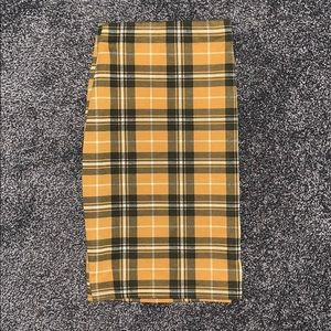 New Look Plaid Mini Skirt